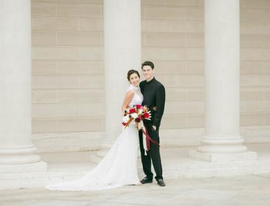 couple taking their wedding photoshoot
