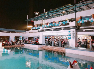 Private party pool to celebrate birthday