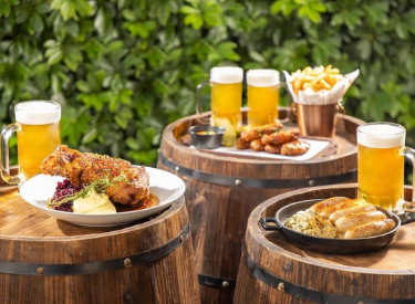 oktoberfeast event with meals and beers