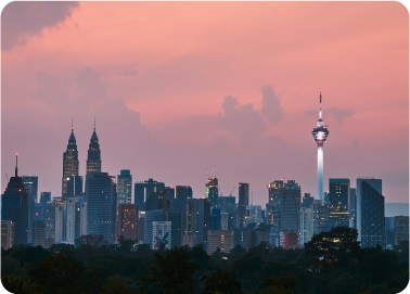malaysia city showing the twin building