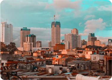 philippines city at the afternoon