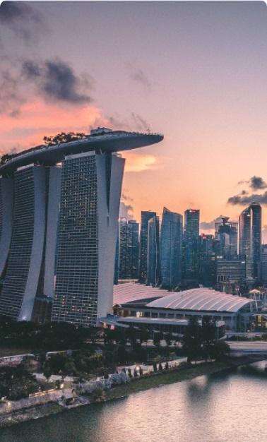 singapore city showing marina bay sands