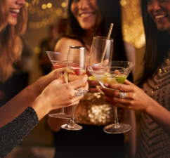 girls having a cocktail party