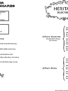 The clifford pier ala carte menu thumbnail