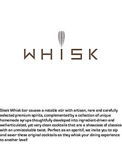 Whisk bar drinks menu thumbnail