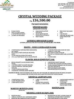 Ridge view crystal wedding package thumbnail