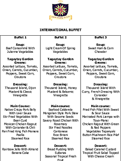 Buffet menu revised for corporate thumbnail