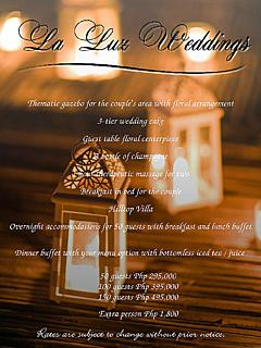 La luz beach resort wedding package thumbnail