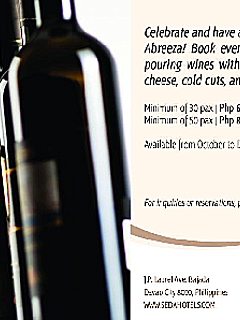 Seda abreeza current promo wine buffet and cocktails thumbnail