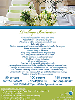 Hotel h2o sophisticated extravagant wedding package thumbnail