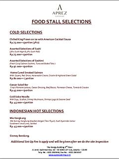 Food stall menu selection thumbnail