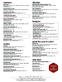 A%cc%80 la carte dinner menu thumbnail