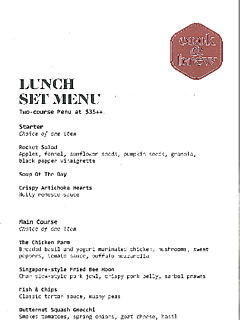 Set lunch menu thumbnail