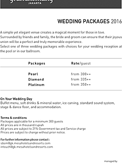 Wedding packages 2016 thumbnail