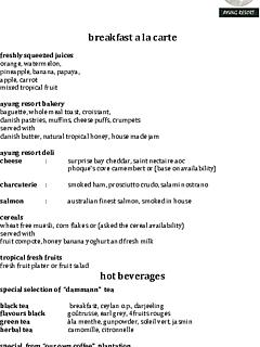 Wijaya kusuma ala carte breakfast menu thumbnail