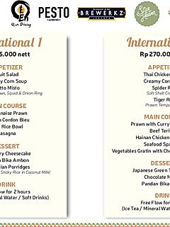 Banquet menu thumbnail
