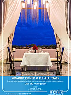 Romantic dinner at kul kul tower thumbnail