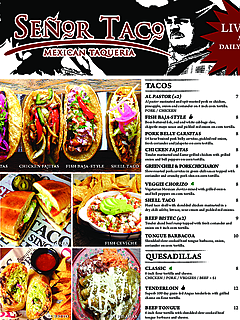 Senor taco food menu thumbnail