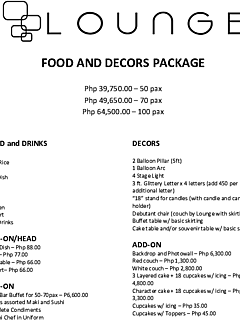 Food and decors package 2019 thumbnail