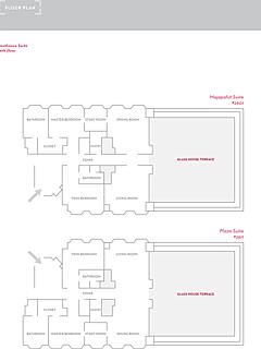 Rooms floor plan penthouse suite thumbnail