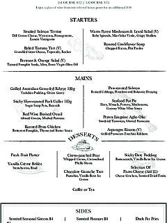 Prive grill set lunch menu thumbnail