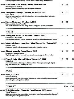 Prive grill wine list thumbnail