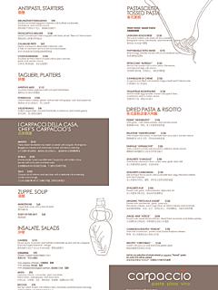 2013 12 03 a la carte menu thumbnail