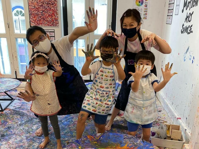 Family art jamming activity singapore medium
