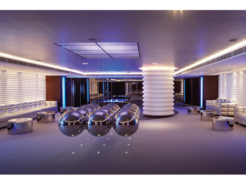 hotel lobby with light structure