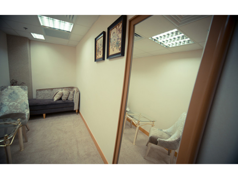 small private room that can be used for interview or mini business meeting