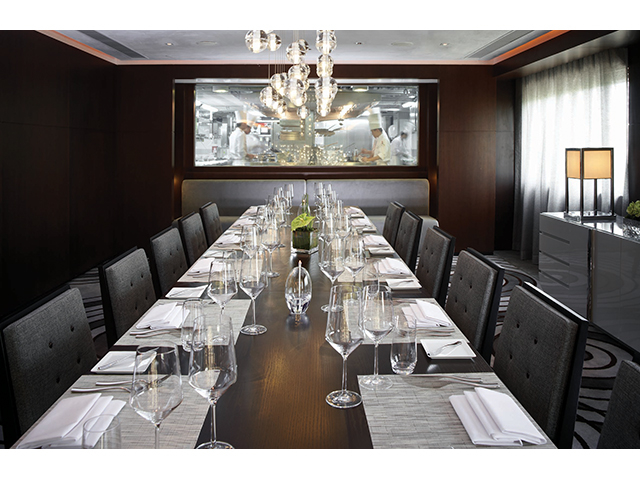 private dining room using long table