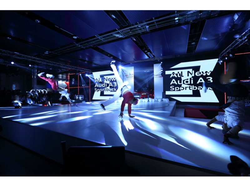 all new audi car launch featuring dance performance