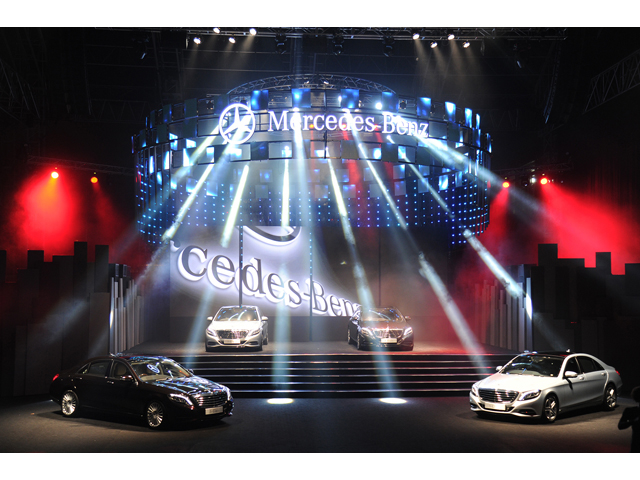 mercedez cars launch featuring the new collection at the stage