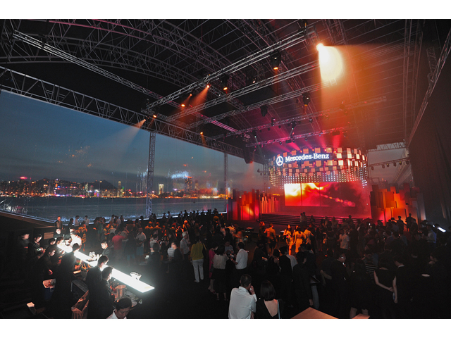 mercedez benz product launch gathering and concert performance