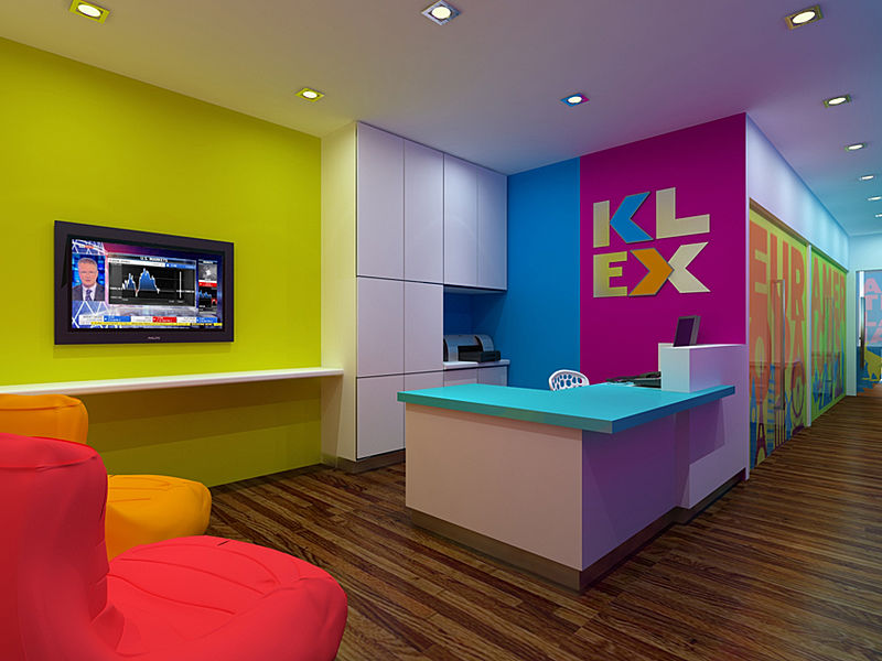 KL entrepreneurs lobby with colourful interior