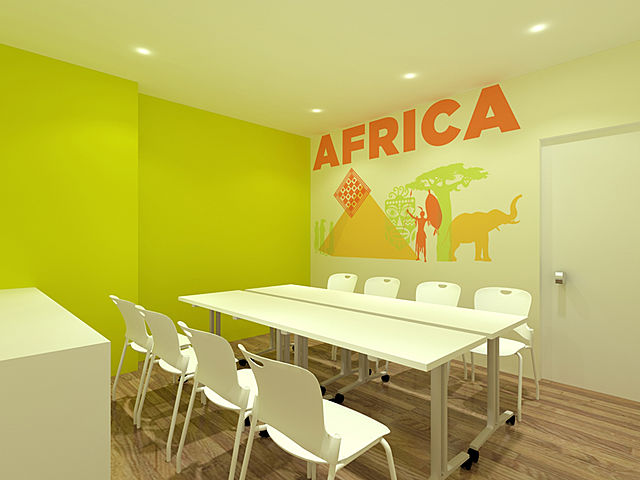 africe themes meeting room for eight capacity