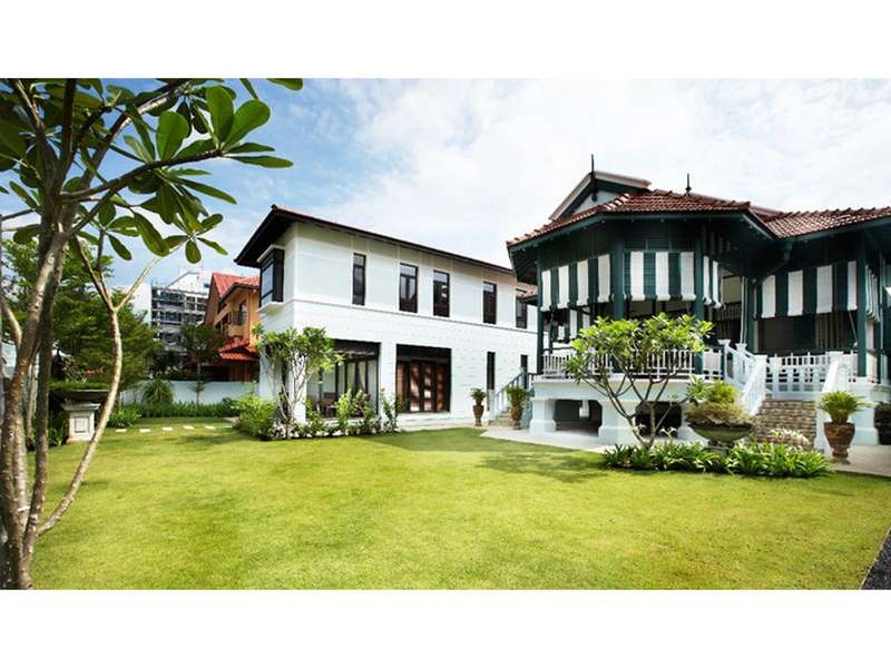 a bungalow with its peranakan influences