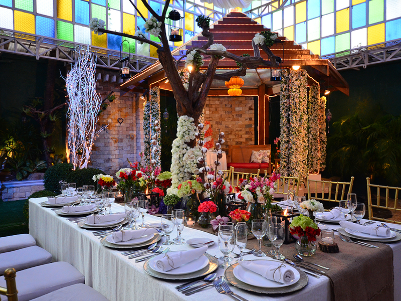 private intimate wedding reception featuring mini stage like house
