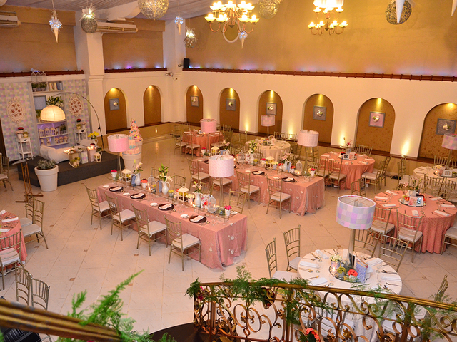 guests tables in wedding hall