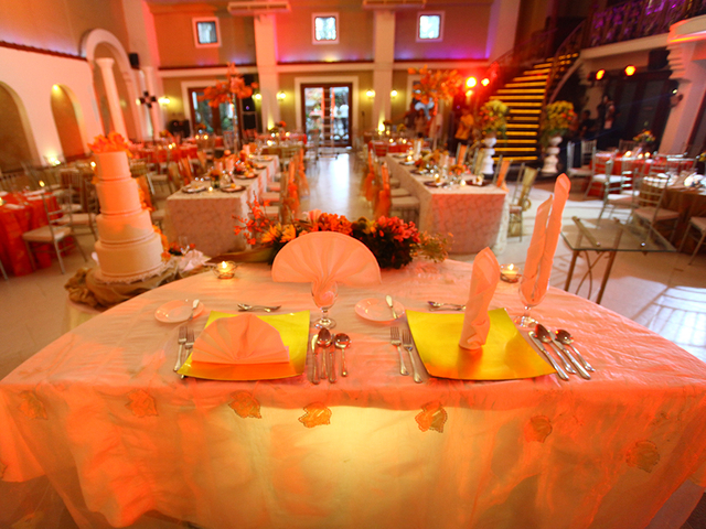 solemnisation ceremony table in wedding hall