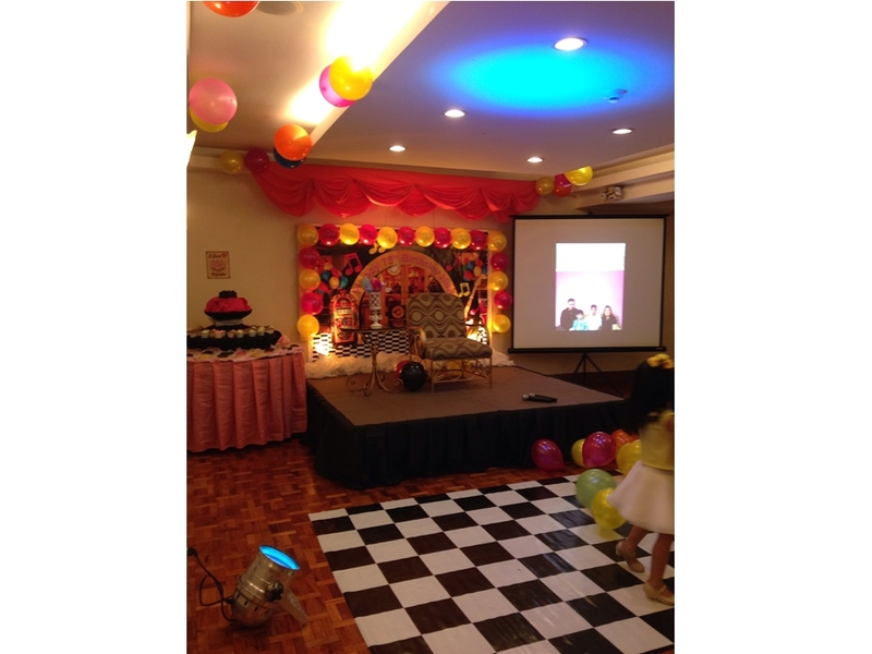 hotel ballroom party stage decoration