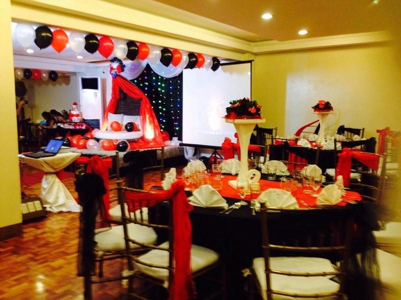 birthday party dining setup