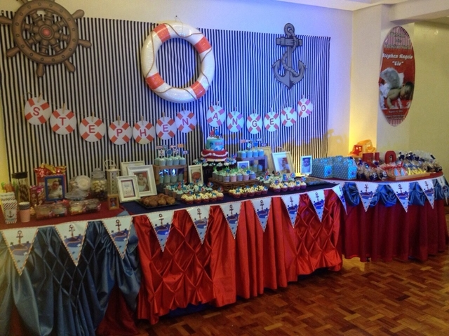 oceam themed birthday party decor