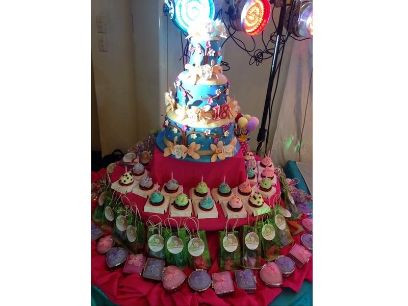 four layer birthday cake