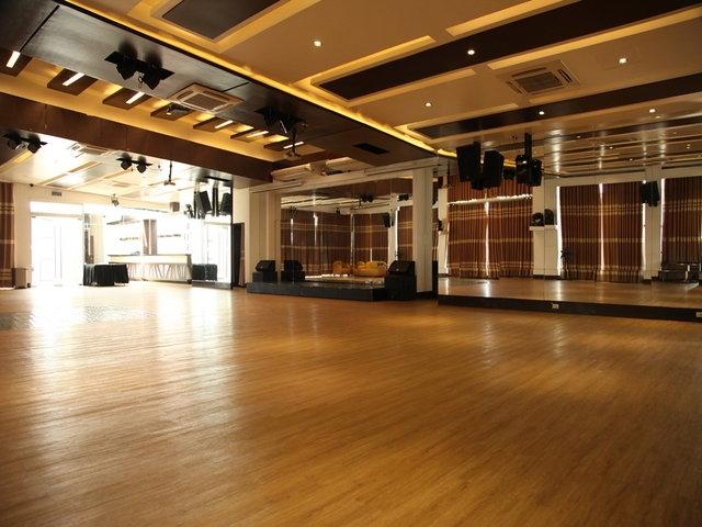 empty function room equipped with audio-visual system