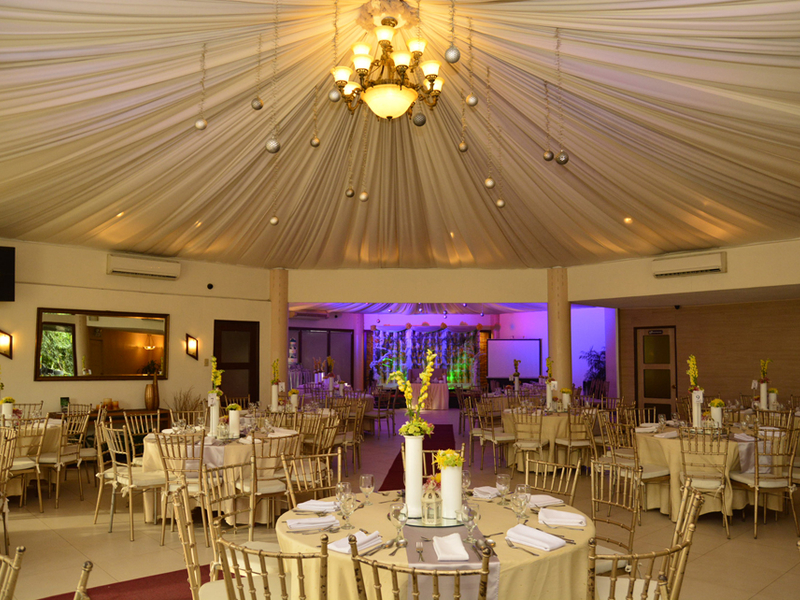 philippines company anniversary event space with round ceiling and banquet seating