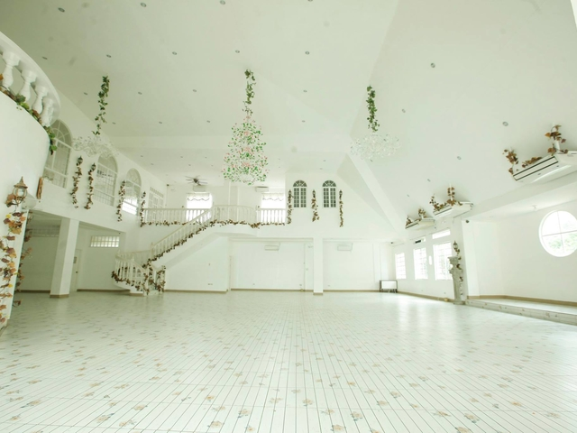 spacious function hall with additional second floor