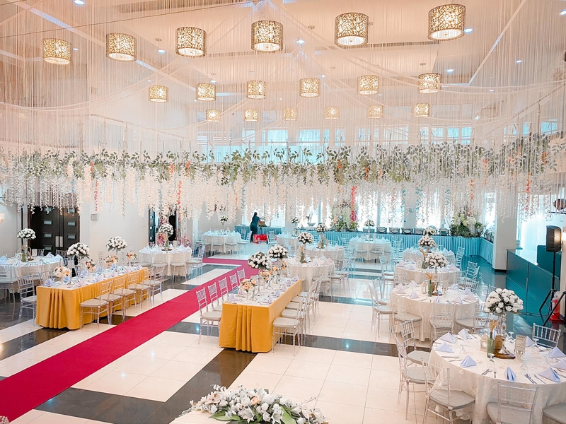 modern zen-inspired design wedding ballroom