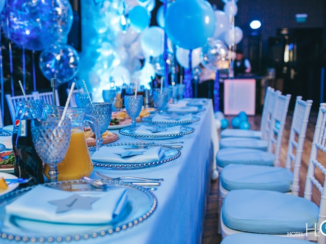 baby boy shower event with blue theme