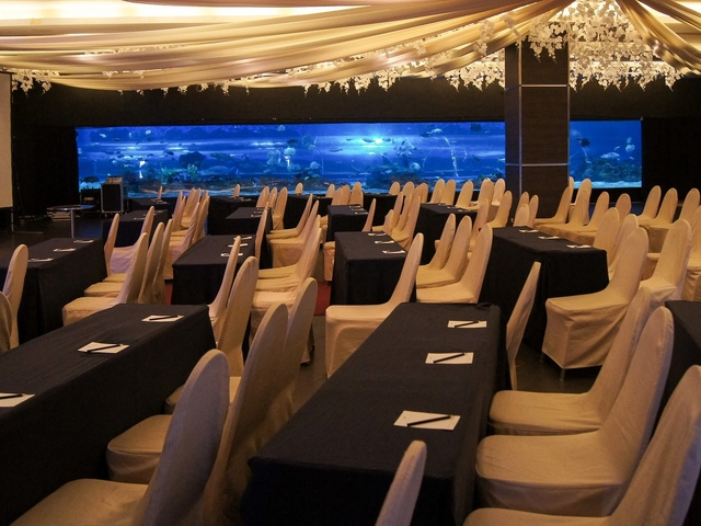corporate event space at the ballroom with classroom seating style
